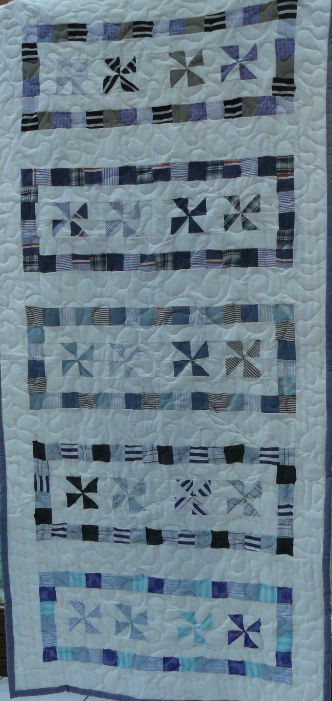 Quilt patchwork avec tissu de r cup ration for Au maison quilts