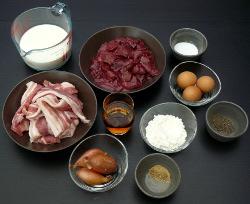 Mousse de foies de volaille aux échalotes et Muscat_ingrédients